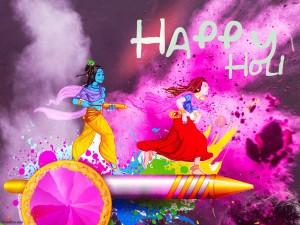 holi krishna radha images