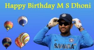 happy birthday ms dhoni 07th july 2015