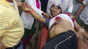 injured policeman in dinanagar terrorist attack photo