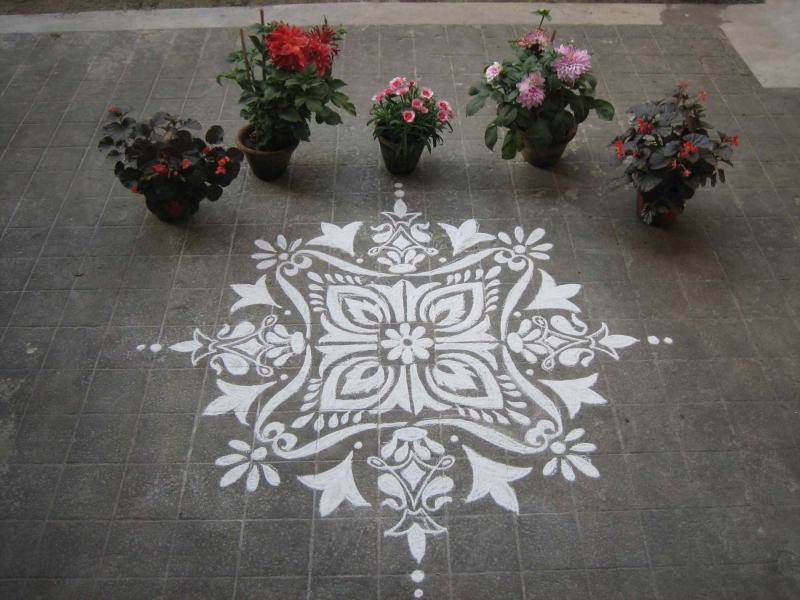 Lokhi Puja alpana designs