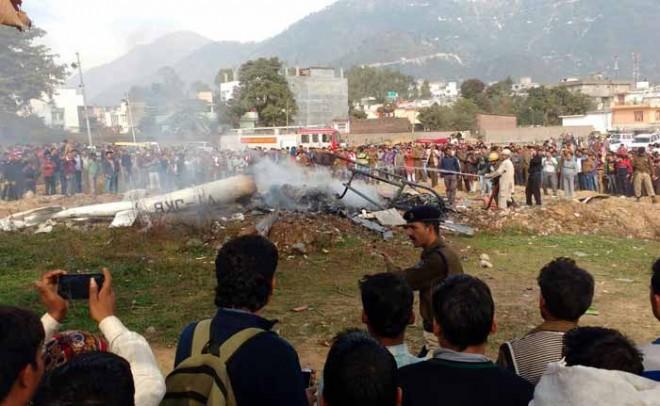 chopper-crash in katra