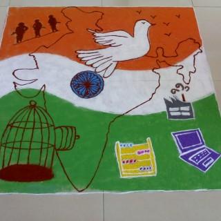 Republic Day wallpapers Rangoli Desigsn
