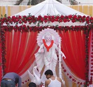 Saraswati Puja In home decoration ideas