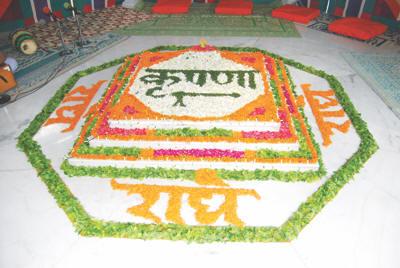 Jamasthami Rangoli decoration Ideas